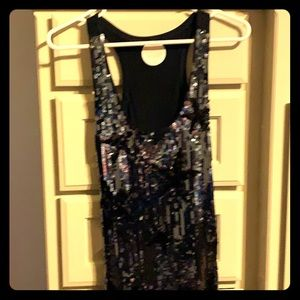 Sequined Star MNG tank top